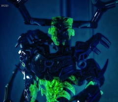 Darkness Awakens (BrickSev) Tags: toy toys actionfigure photography darkness lego action indoor actionfigures figure scifi hunter sciencefiction bionicle figures tabletop the constraction toyphotography buildable legophotography umarak