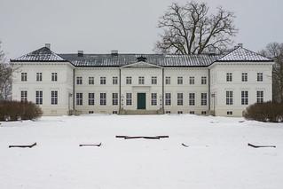 Schloss Neuhardenberg im Schnee