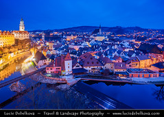 Czech Republic - esk Krumlov - Historical town on banks of river bend of Vltava river at Dusk - Twilight - Blue Hour - Night ( Lucie Debelkova / www.luciedebelkova.com) Tags: world city trip travel vacation house holiday building tourism beautiful architecture night wonderful nice fantastic twilight perfect europe tour place czech dusk awesome sightseeing visit location tourist best unesco journey stunning czechrepublic destination historical cz bluehour sight traveling lovely visiting exploration incredible bohemia touring breathtaking cechy eskkrumlov cesko luciedebelkova wwwluciedebelkovacom luciedebelkovaphotography