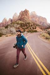 Zack x Zion (kylesipple) Tags: winter red portrait southwest rock landscape utah zion zionnationalpark redrock vsco campvibes