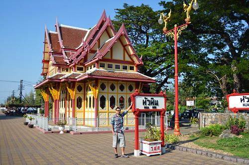 David in Hua Hin Railway Station