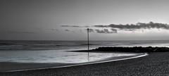 Standing Tall (hall1705) Tags: beach blackwhite sand westsussex marker groyne felpham d3200