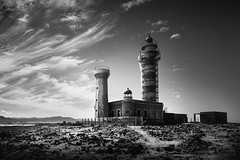 Museo de la Pesca Tradicional (kris greenwell) Tags: travel sky blackandwhite lighthouse tower landscape spain nikon rocks fuerteventura dramatic sigma wideangle 1020mm watchtower loslagos cotillo touristboard d7100 canarieislands museodelapescatradicional krisgreenwellphotography