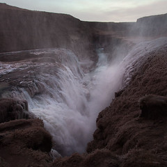 Gullfoss, Iceland (Vibeke Langvad) Tags: winter mist ice water landscape outdoors waterfall iceland gullfoss plummet