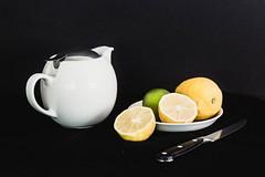 Lemon Tea Cleanse (hrt2art) Tags: stilllife lemons teapot citrus