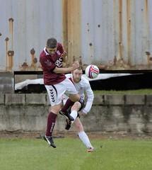 Ryan Holms drills a ball up the line (Stevie Doogan) Tags: park west scotland scottish first super juniors division league holm clydebank bole maybole bankies mcbookiecom