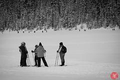 Scenes from Lake Louise 1 (Kasia Sokulska (KasiaBasic)) Tags: travel winter people lake snow canada mountains rockies frozen tourists alberta lakelouise banffnationalpark