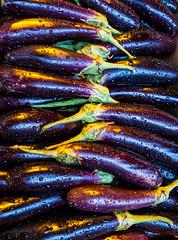 27/366 Wet Aubergine - 366 Project 2 - 2016 (dorsetpeach) Tags: england wet rain market vegetable dorset droplet aubergine 365 dorchester raindrop glisten 2016 366 aphotoadayforayear 366project second365project auberhine