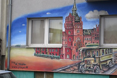 """""""Das Schlo"""" in der Alsenstrae (unterwegs_in_berlin) Tags: berlin graffiti ubahn rathaus steglitz wandmalerei wolfgangstadter picuyode"""