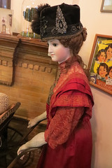 elegant antique doll (lisafree54) Tags: old red black hat doll antique victorian free elegant cco freephotos