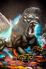 Her Favorite Emotion (Thomas Hawk) Tags: california usa america graffiti monkey oakland unitedstates unitedstatesofamerica eastbay