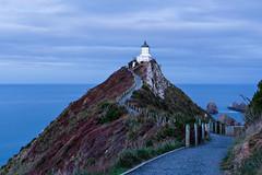 Nugget Point Lighthouse at dusk (Rodney Topor) Tags: longexposure newzealand lighthouse seascape landscape southisland catlins nuggetpoint canonef50mmf14usm