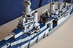 LEGO USS Indianapolis (CA-35) (Steel Navy) Tags: model ship lego indianapolis wwii navy cruiser uss warship