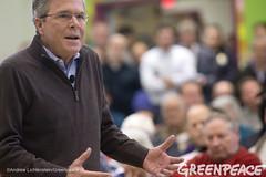 Jeb Bush In New Hampshire (Greenpeace USA 2015) Tags: usa democracy newhampshire concord vote republican democrat keepitintheground