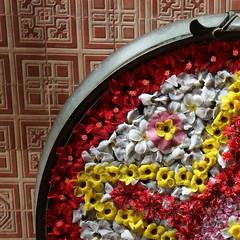 Morning offering (Rahul Gaywala) Tags: india flower design colorful pattern god country kerala incredible kochi own rangoli munnar tvm thekkadi thiruvanantpuram