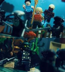 To Swim With The Fishes: Part 3 (Andrew Cookston) Tags: macro comics photography dc lego atlantis minifig dccomics custom tempest garth aquaman aqualad blackmanta arthurcurry oceanmaster kaldur andrewcookston kaldurahm