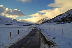 Glen Lyon Road (H.F.F.) (eric robb niven) Tags: road snow landscape scotland dundee outdoor perthshire glenlyon winterwatch weirdwinter ericrobbniven