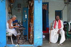 """""""TAILOR-MADE LIFE"""" (GOPAN G. NAIR [ GOPS Photography ]) Tags: life street old india man rural photography village age common simple tailor gops gopan gopsorg gopangnair gopsphotography"""