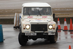 legends fire rally | Land Rover | R589 TAC (Jgalea14) Tags: white beach window glass wheel canon army fire lights mirror rally rover round land legend blackpool rotary cones fleetwood 2016 100d