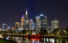 Melbourne CBD (quarterdeck888) Tags: nightphotography water reflections nikon flickr cities frosty cbd freight yarrariver quarterdeck melbournecity truckphotos d71 expressfreight roadfreight jerilderietruckphotos jerilderietrucks australiantruckphotos