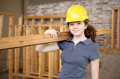 Female Construction Apprentice (JobConnect) Tags: new wood blue people woman house building brick home smile hat wall female work fix person site student construction women labor board helmet working hard safety professional repair installation frame friendly learning worker manual protective remodel collar job install plank tool stud apprentice profession skill trainee trades installing workwear