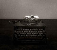 Jack (Alison De Mars) Tags: typewriter work skull cranium f64g74r3win