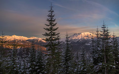 Mount St. Helens Winter Sunset (Cole Chase Photography) Tags: winter sunset snow canon washington pacificnorthwest 5d mountsthelens markiii sainthelensnationalvolcanomonument