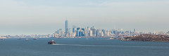 Manhattan Skyline (Erin Cadigan Photography) Tags: city nyc newyorkcity urban panorama newyork building tourism water horizontal skyline architecture river island harbor daylight cityscape view manhattan worldtradecenter panoramic borough daytime wtc hudson statenisland freedomtower fortwadsworth