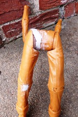 No Respect for Johnny West (atjoe1972) Tags: vintage toys actionfigure cowboy paint retro repair restore epoxy western marx 1960s hip 1970s custom knee putty wildwest frontier botw oldwest johnnywest bestofthewest atjoe1972