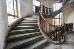 Heavenly Stairs (Martyn.Smith.) Tags: light distortion abandoned stairs canon lens eos photo flickr image decay steps staircase soviet railings abandonment bannister ussr abandonedbuildings wideanglelens wunsdorf balistrade nikcolorefex sigma1020mmlens 700d