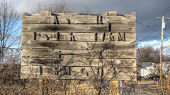 Alphabet Soup (milfodd) Tags: sign march letters weathered 2016 singlerawhdr
