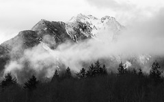 As We Are... (John Westrock) Tags: blackandwhite mountains clouds contrast monochrome northcascades nature landscape pacificnorthwest canoneos5dmarkiii canonef100400mmf4556lisusm washington johnwestrock
