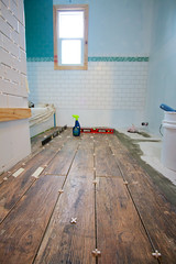 Boardwalk Tile (localhandsco) Tags: usa tile bathroom floor il schaumburg remodel day22
