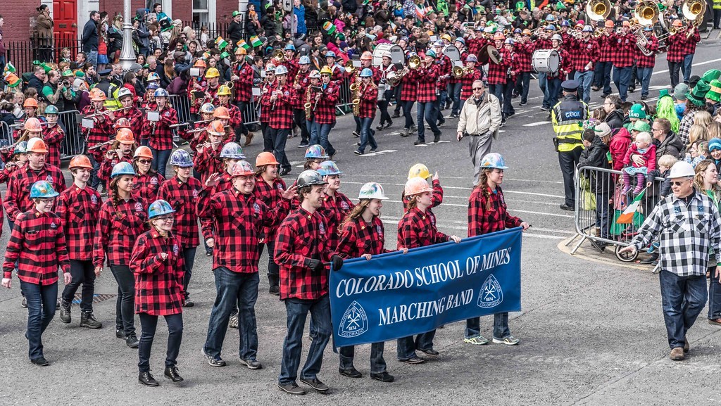 Colorado School Of Mines Marching Band and Choir [St. Patrick's Day Parade 2016]---112294