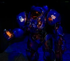 It happens in a flash...bang (BrickSev) Tags: game toy toys actionfigure photography video marine power action space indoor armor actionfigures figure scifi sciencefiction collectible starcraft figures armour collectibles sideshow powered terran tychus toyphotography