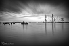 High (delphwynd) Tags: longexposure cycling commute friday pylons riverforth ndfilter alloa theshore ndx400 alloaharbour bigstopper