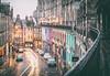 Victoria Street (D Cation) Tags: rain night scotland edinburgh cobbles victoriastreet traffictrail
