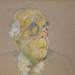 Sábat, Hermenegildo. Retrato de Borges. Técnica mixta. 30x30 cm
