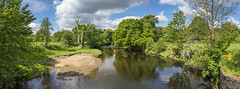 The river Etherow (Keartona) Tags: trees summer england panorama june river countryside scenery day sunny tranquil etherow broadbottom tameside