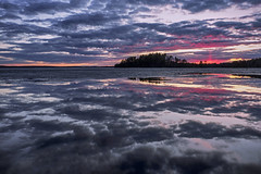 Cloud to cloud towards horizon (Kari Siren) Tags: sunset sky cloud lake ice finland evening spring jaala karijarvi