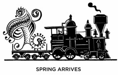 Spring arrives (Don Moyer) Tags: moleskine train ink notebook spring drawing locomotive moyer brushpen donmoyer