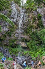 Ngarri-dhum Falls (NettyA) Tags: rock waterfall australia bushwalking qld queensland bushwalk springbrook goldcoasthinterland 2016 springbrooknationalpark scenicrim bushwalkers seqld warriecircuit vertorama scbwc sonya7r ngarridhumfalls