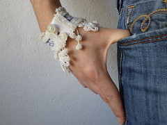 beaded crochet bracelet with white and blue-gray embroidered base and white seed bead decorations by irregularexpressions (irregular expressions) Tags: jewelry bracelet wearableart bracelets cuff fiberart textileart bluegray seedbeads beadcrochet whitelace freeformcrochet delicabeads crochetbracelet whitebracelet beadedcrochet beadedbracelet crochetart beadedcuff beadedlace irregularexpressions crochetcuff fiberbracelet statementbracelet statementjewelry lacebracelet beadedcrochetcuff whitecrochetlace statementcuff beadedcrochetbracelet beadedlacecuff