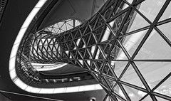 Tube I (Dustpuppy72) Tags: glass architecture blackwhite pattern availablelight frankfurt indoor nikond300 myzeil afsdxnikkor1024mmf3545ged