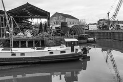 5D3_9191.jpg (x1martin) Tags: bw water river boat canal union houseboat grand brent narrow narrowboat boatyard brentford