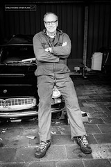 Maserati Henk (While Making Other Plans) Tags: auto portrait oldtimer portret maserati henk monteur