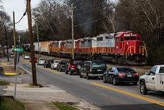 Rush Hour at Woodstock (Kyle Yunker) Tags: railroad train georgia woodstock northeastern emd gp38 gnrr