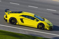 Lamborghini Aventador LP700-4 (80sChiyuld) Tags: car yellow canon italian automobile transport automotive vehicle lamborghini supercar doha spoiler bodykit santagata aventador aventadorlp7004 carsofqatar