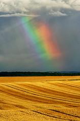 Aprs la moisson....et la pluie! (jjcordier) Tags: lumire nuage couleur arcenciel moisson charpe dcomposition iris diamondclassphotographer