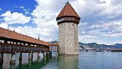 Chapel Bridge, Lucerne (somabiswas) Tags: bridge landscape switzerland wooden lakes chapel lucerne